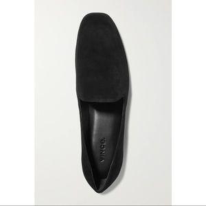 Vince Paz Leather Venetian Loafer Black Suede